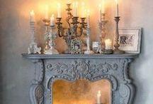 s t y l e: mantel styling / Fireplace home / by z f l i c k a's  Style Blog