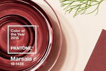 Color Trend: Marsala / A collection of fabrics in Pantone's 2015 Color of the Year from our family of brands.
