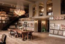 Mixed interiors. / The beautiful interiors of shops, cafe's & restuarants. / by Jo Coates