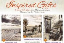 Inspired Gifts - 6 Great Gift Ideas / 6 Great Gift ideas from Marlene Neumann Master Fine Art Photographer - http://www.marleneneumann.com/gifts2013.html