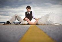 007 engagement / James Bond 007 inspired couple photos
