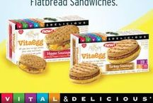 VitaEgg / We're not egging you on—the new VitaEgg Flatbread Sandwich is the most delicious of them all! Packed with the great taste and nutrition of whole eggs without the cholesterol. / by Vitalicious