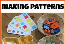 Pattern/ Sequence Skills for Preschool / Preschool aged activities that focus on creating patterns and sequencing.