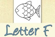 Letter F Preschool / Preschool activities, books, and crafts for the Letter F.