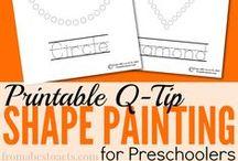 Shape Activities / Activities for teaching shapes to Preschoolers.