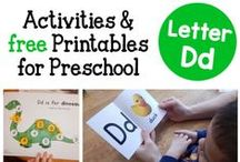 Letter D Preschool / Preschool activities, books, and crafts for the Letter D.