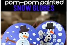 Winter Crafts and More / Winter themed crafts and activities for kids.