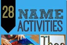 Name Activities for Preschoolers / Ideas, Lessons, and Printables for teaching Preschoolers their name.