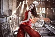 ༺♥༻Lady in red Dress༺♥༻