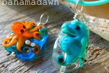 My Jewelry Creations / i melt glass and metal to come up with fun and funky jewelry creations