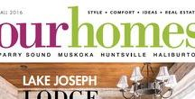 Our Homes Muskoka / OUR HOMES Muskoka is your local premium homes, décor & real estate magazine showcasing local homes, products & businesses. Follow us nationally on Twitter @OurHomesMag and find us on FaceBook.