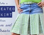 Repurposing Jeans / Jeans are so versatile and come in so many shades of blue, they're a wonderful material to transform into cool new things! Do you have great ideas for upcycling jeans? Write to me at lisa (@) cucicucicoo.com for an invitation!