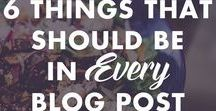 Blogging / This board has tips and tricks for blogging. So... bloggers, check this out!