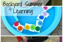 """Summer Learning Activities / Research tells us that all children stand to experience a """"summer slide"""" of learning loss when they do not engage in educational activities once school is out. Here are some activities to keep your young child active, learning and engaged during the summer months. #summerlearning"""