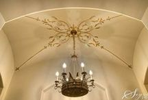 Tuscan Ceilings, Walls, Stencils, Murals & Faux Iron / Artistic ideas for Tuscan homes