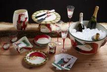 Old St. Nick Holiday Dinnerware / Holiday Entertaining | Festive Holiday Decor | Festive Decorations | Festive Table Settings | Dinnerware for the Holidays | Christmas Decorations | Made in Italy | Italian Made Ceramics | Handmade Dinnerware