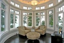 Window Seats & Round Walls / Furniture placement and window seat ideas for Round Walls
