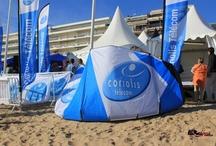 KTE - Kite surf Tour Europe -La Baule by Coriolis / La baie de La Baule sera pour les concurrents du Kitesurf Tour Europe l' occasion de tester et de mettre au point leur nouveau matos dans des conditions de course, en vue des prochains Jeux Olympiques.   Le Derby Kite sera l' étape française du KTE, mais également le championnat d' Europe de Race ! Coriolis Télécom est fier de ce partenariat !