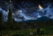 A Starry Night / Finding inspiration for Shaughan's painting of The Starry Night by Vincent Van Gogh