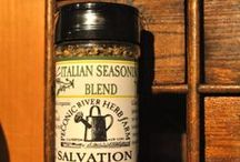 """SALVATION spice blends #salvationseasonings @PRHerbfarm / Our organic herb and spice blends are available for purchase at Outside In, our unique garden shop located right here on the herb farm. Salvation Seasonings - """"Saving the planet, saving the farm, saving us from winter unemployment but most importantly, saving YOU from another boring meal!"""" #deliverusfromblandfood"""
