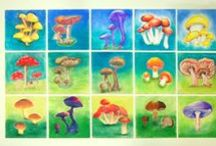 things my students made / Pastel Mushrooms  / by Sasha Prosser