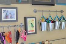 Office/Craft/ Homeschool Room / Ideas for creating a unique office space, craft area and homeschool room.