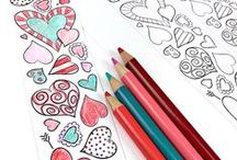 Coloring for Grown Ups / Coloring pages and techniques for relaxing and creative fun.