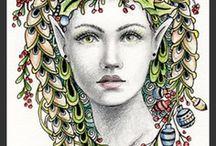 Zentagles / drawing, creative art and zentagles pattern