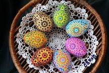 Easter eggs and decoration / Easter decoration and eggs