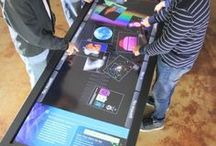 Our Multitouch Products / For the past ten years, Ideum has designed and built multitouch tables and touch displays for museums and other demanding spaces. We sell direct and ship worldwide. technology developed by Ideum and constructed in the USA.