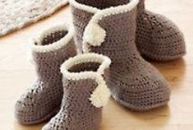 Crochet footwear