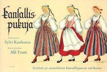 Kauniit kansallispuvut / Suomalaisia kansallispukuja