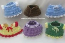 Crochet mini clothes, shoes etc.
