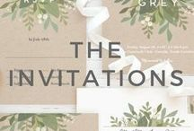 6+ Months: The Invitations (and Etiquette) / Ideas and inspiration to help you when deciding on the look of your wedding invitations - along with the etiquette behind it