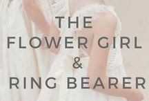 3+ Months: The Flower Girl and Ring Bearer / Ideas and inspiration for everything flower girl and ring bearer related - gifts, proposals, signs, outfit ideas...