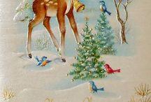 Kerst/Vintage Christmas Cards; Dear / by Anja Brokelman