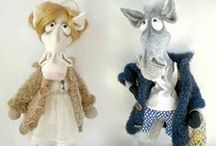 048 Mr and Mrs Horse in a coat crochet pattern amigurumi projects / Projects made using Mr and Mrs Horse in a coat crochet pattern by Astashova for LittleOwlsHut