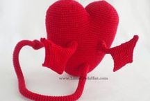 Heart with tail and wings amigurumi toy / Heart with tail and wings crochet pattern by Galina Astashova for LittlOwlsHut. / by LittleOwlsHut