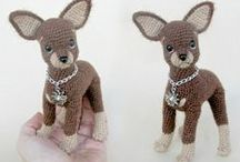 Toy Terrier amigurumi dog toy / Toy terrier crochet pattern by Tatiana Chirkova (Kanareika)for LittleOwlsHut #crochet pattern# Kanareika# Chirkova# LittleOwlsHut# dog# Kerry blue terrier# DIY# crafts# / by LittleOwlsHut