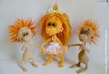 084 Baby monkey - Amigurumi Crochet Pattern finished projects / Finished project of Babay Monkey crochet pattern from LittleOwlsHut https://www.etsy.com/uk/listing/254645139/084-baby-monkey-amigurumi-crochet / by LittleOwlsHut