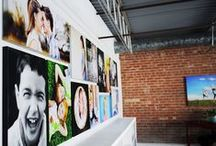 Photo wall / Nice ideas of how to display your photos / by Maria Ramos