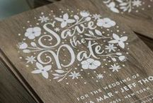 Wedding Invitations / Invitations, RSVPs, and other stationery for weddings, created by innovative print shop Jukebox Print.