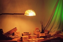 Lights of Apaletarte. Red Box, Kubik Lamp, Crazy Glass Lamp, El árbol de palet, Sphere Lamps. / apaletarte@hotmail.com
