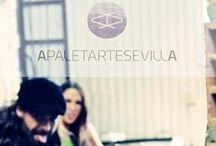 Paco Munzón, diseñador-artesano y Mara G. Leal, creativa-fotógrafa. Apaletarte Sevilla. / Nosotros