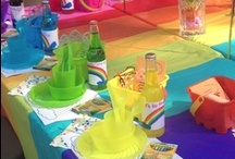 Rainbow Party / 2nd birthday party for my twins