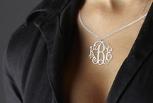 Monogram Necklace / Beautiful monogram necklaces
