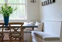 Banquette / upholstered benches for eating spaces