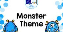 Monster Theme / Monster themed items to use in your classroom and library/media center