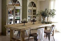 Interior Design Home Inspiration / Rooms that inspire... Furniture, art, color, patina, comfort!