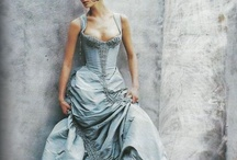 Dressed up. / A collection of beautifully made dresses.